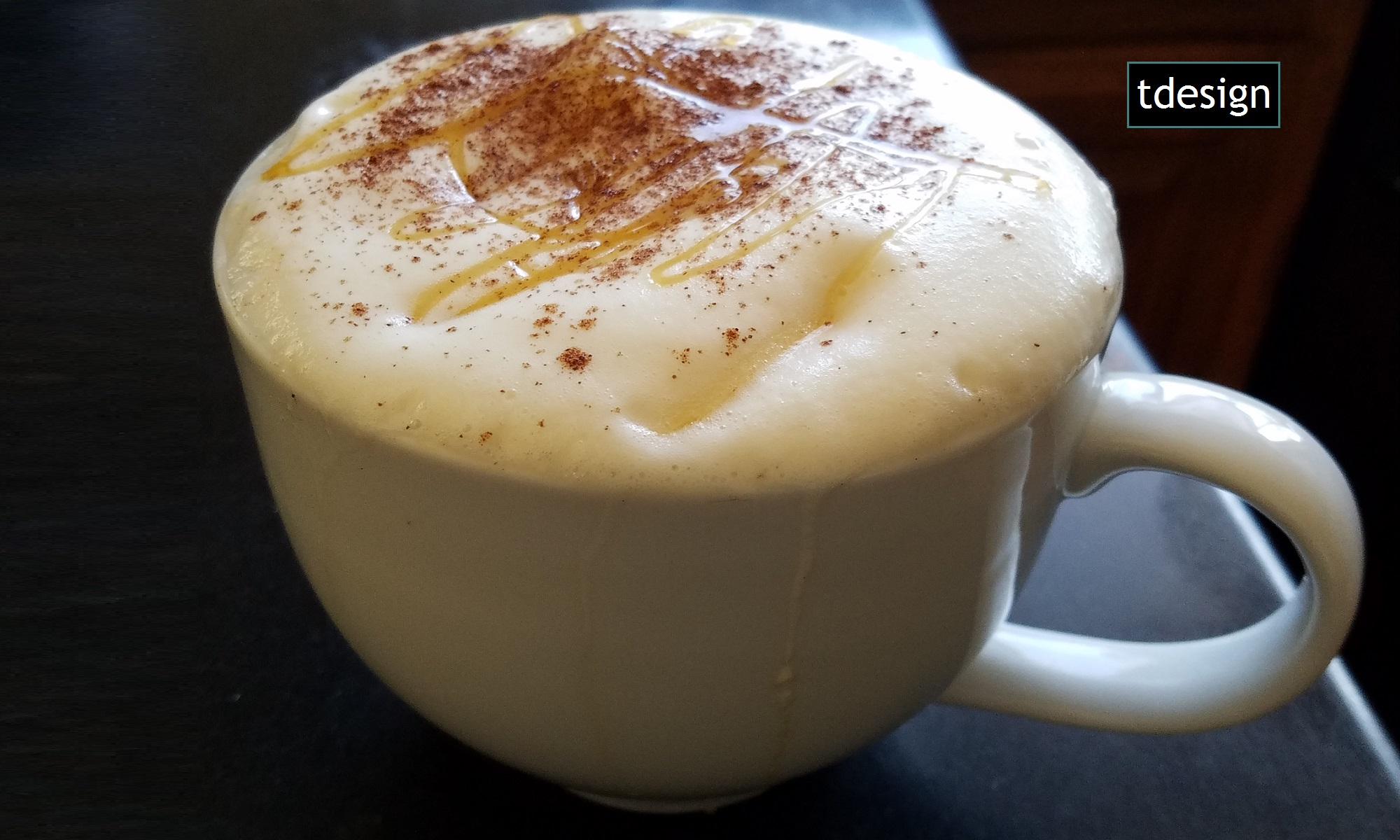 Fall Cinnamon Honey Chai with Logo