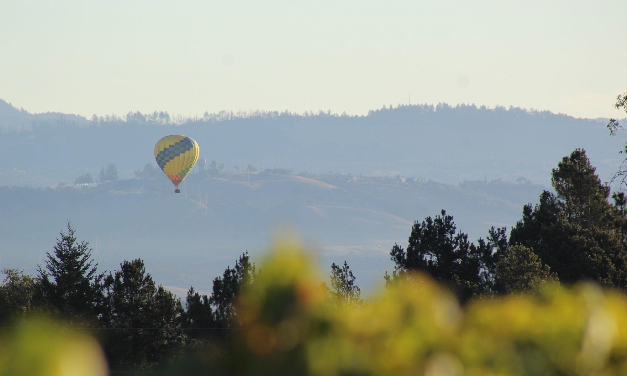 Balloon over Sonoma County